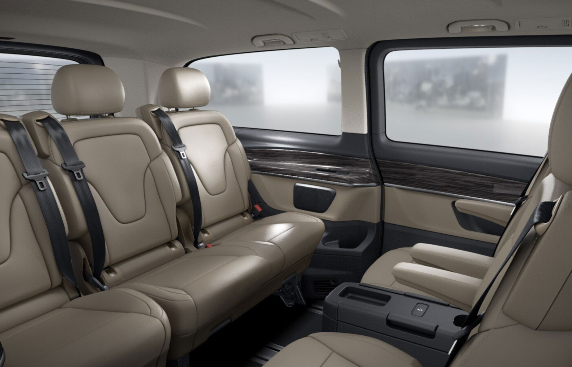 Luxury Chauffeur Car Service Milan - V Class Interior