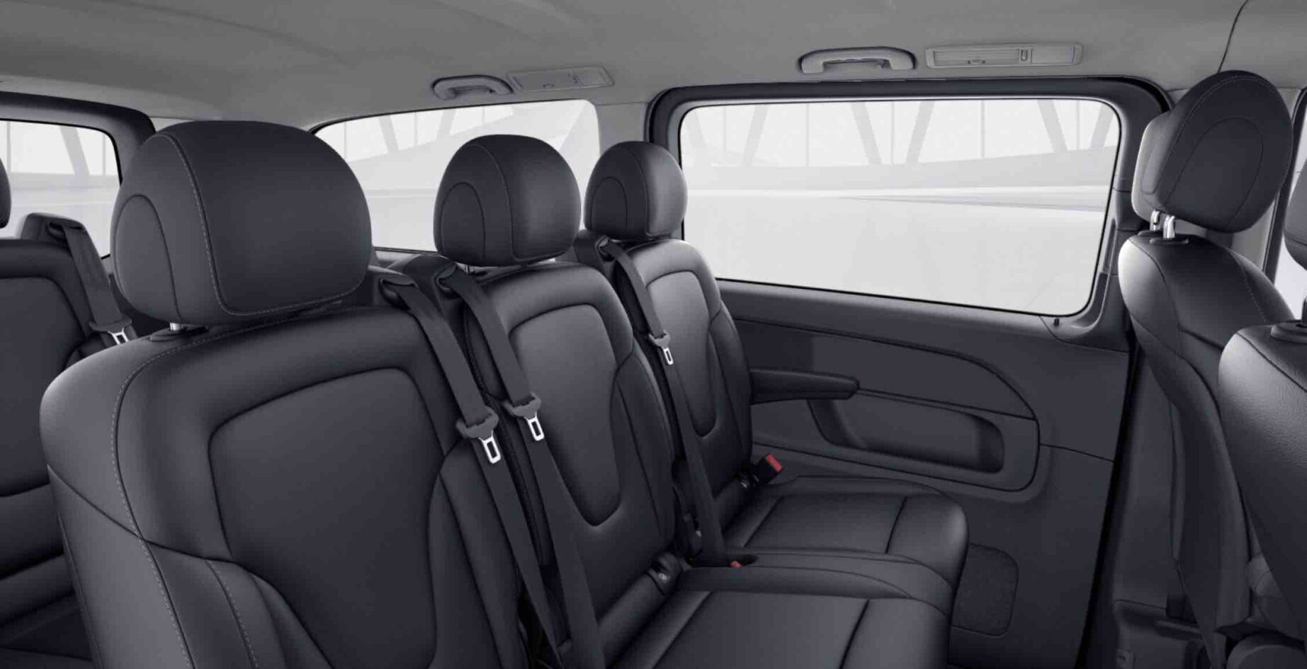 Luxury Chauffeur Car Service Milan – V Class Minivan Interior